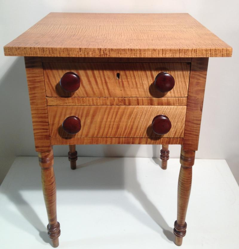 Tiger Maple 2 Drawer Stand